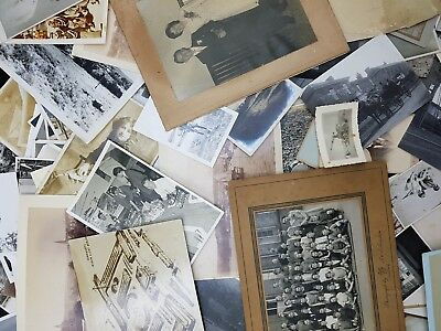 Job Lot of 80 Assorted Vintage Black & White Photos, Ideal Crafting Supplies