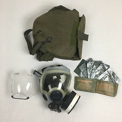 Military MSA 5479 Large Gas Mask Respirator Carrier Bag Decon Wipes Prepper G20