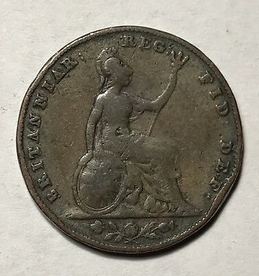 1850 FARTHING - GREAT BRITAIN * GREAT OLD BRITISH COPPER - VICTORIA -Lot#505A