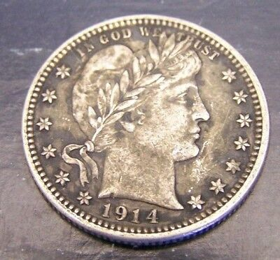 Higher Grade 1914 Barber Quarter