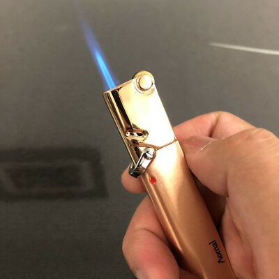 AM365 Windproof  Flint Wheel Lockable flame Torch Cigar Cigarette Lighter Gold