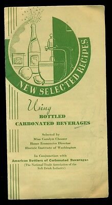 1940's American Bottlers of Carbonated Beverages Recipes Brochure