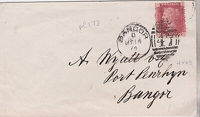 1874 QV GREAT BRITAIN WALES BANGOR COVER WITH 1d PENNY RED STAMP