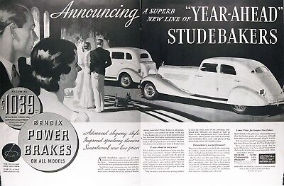 1934 STUDEBAKER COMMANDER Vintage Advertisement ~ RARE CDN AD