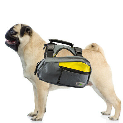 2-in-1 Harness and Hiking Backpack for Dogs Outdoor Gear Travel Camping Rucksack