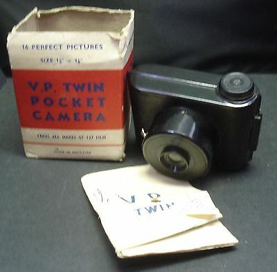 Edbar V.P. Twin Pocket Camera - In Box + Manual - Vintage