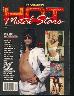 HIT PARADER'S HOT METAL STARS Winter 1989 Magazine STEVEN TYLER Lisa Ford VF