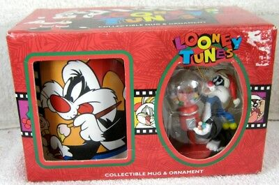 Looney Tunes TWEETY and SYLVESTER Ornament and Mug Set