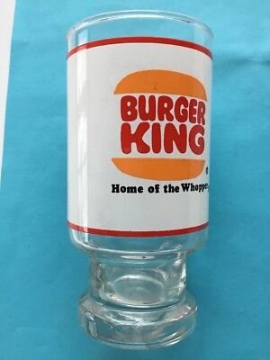 Vintage Burger King Drink Glass Tumbler 1970's Promotional Where Kids are King