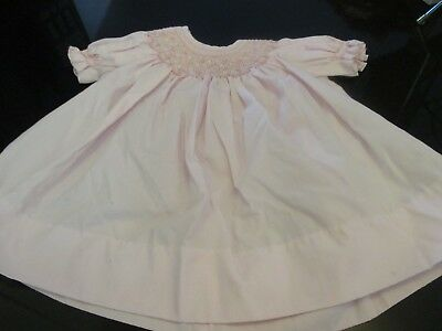VINTAGE PRETTY HOUSE of HATTEN BABY or DOLL DRESS~SMOCKED NECKLINE~PHILIPPINES