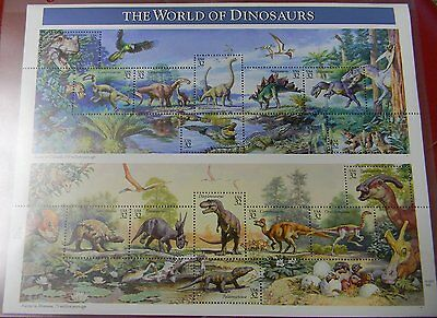 NEW World of Dinosaurs Collectible Stamp Sheet