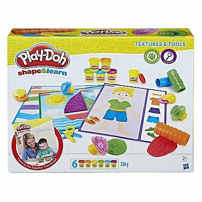 New Hasbro Play-Doh Shape & Learn Textures & Tools B3408