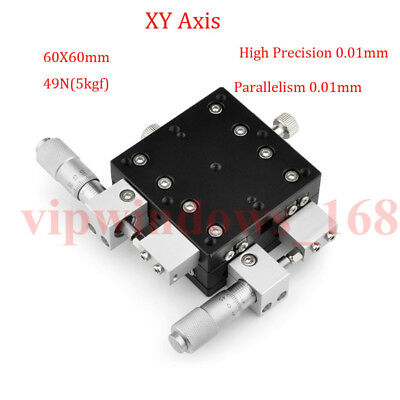 XY Axis Manual Trimming Platform Linear Stage Tuning Sliding Table 40/50/60/90mm