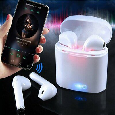 Dual Wireless Bluetooth Earbud Headset In-Ear Earphone Charge Station for iPhone