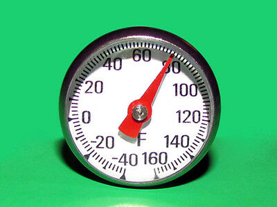 Pocket Dial Thermometer -40 to 160 F Degree Single Scale w/ Magnify Lens