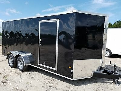 7x14 7 x 14 Enclosed Trailer Cargo V-Nose Tandem Motorcycle Utility 6 12 2018