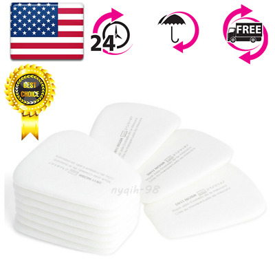 US 10X Particulate Filter Respirator Cotton Gas Mask For 5N11 N95 6200/6800/7502