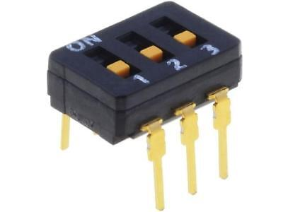 A6D-3100 Switch DIP-SWITCH Poles number3 ON-OFF 0.03A/30VDC -20÷70°C OMRON