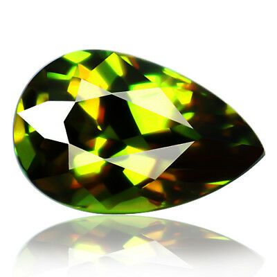 1.69ct Natural earth mined extremely rare multi color flash color change sphene