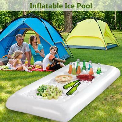 Inflatable Beer Table Pool Float Air Mattress Ice Bucket Serving/Salad Bar Tray