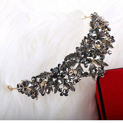 Luxury Baroque Handmade Rhinestone Crystal Headband Tiaras Bridal Wedding Crown