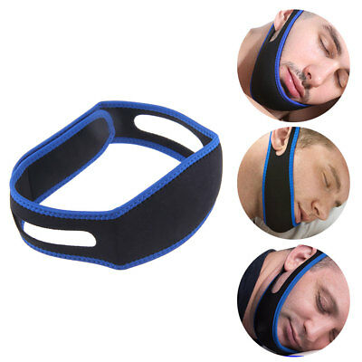 Anti Snore Aid Sleep Apnea Stop Snore Strap Belt Jaw Solution Chin Support Set O
