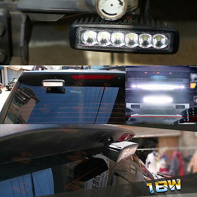 1pair 18W Spot LED Light Work Bar Lamp Driving Fog for Offroad SUV 4WD Auto Car