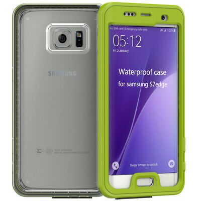 SAMSUNG Galaxy S7 edge Waterproof Case Shockproof Snowproof Cover Green