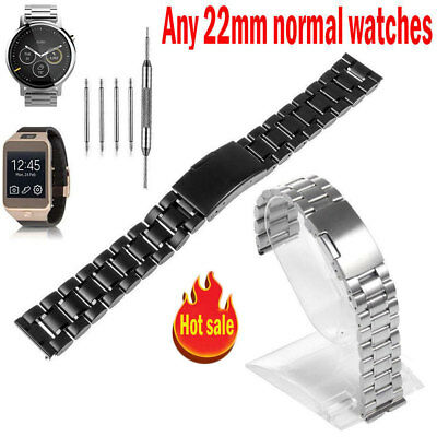3d52eed34f0 22mm Stainless Steel Watch Band For Martian Notifier,Fossil Q Founder
