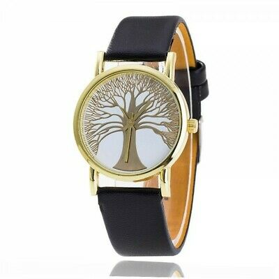 Ladies Watch - Tree Of Life - Imitation Leather - Black - L & D