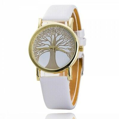 Ladies Watch - Tree Of Life - Imitation Leather - White - L & D