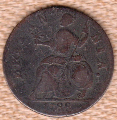 1788 Machins Mills Colonial Half Penny
