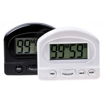 Mini LCD Digital Count Up Down Kitchen Cooking Timer Magnetic Electronic Alarm T
