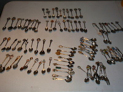 Lot Of 99  Vintage Souvenir & Collectible Spoons