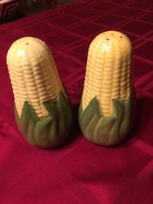 "Shawnee Corn King Salt & Pepper Shakers 5 1/2"" Tall"