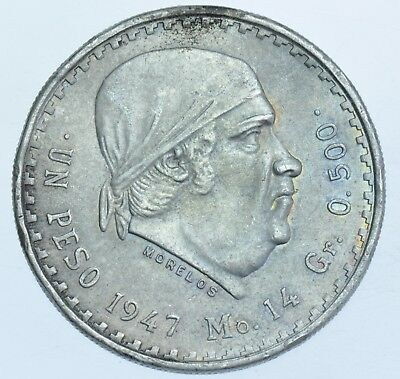 United States Of Mexico, Peso, 1947 Silver Coin Ef