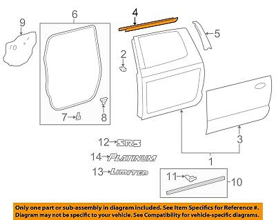TOYOTA OEM Rear Door Window Sweep-Belt Molding Weatherstrip Right 681630C020