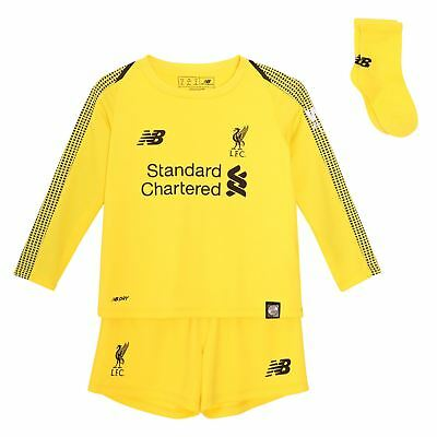 Liverpool FC Home Kit Yellow Baby Football Goalkeeper Kit 18/19 LFC Official