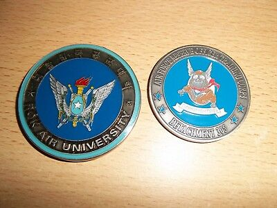 2 us air force army coins