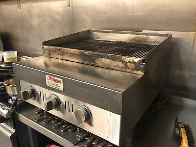 commercial gas grill 90cm