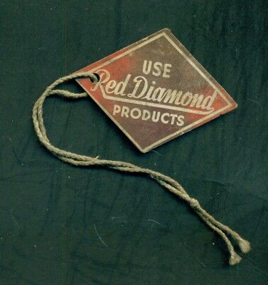 """1910 Use """"Red Diamond"""" Products Coffee/Tea Grocery Store Product Tag"""