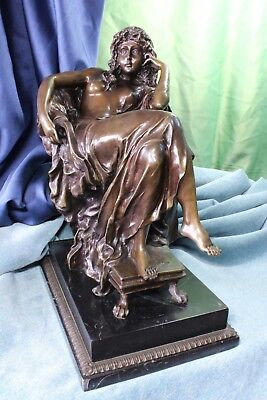 Sculpture of gypsy sitting. Bronze. Weird. Quality. S.XX Escultura de gitana.