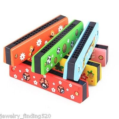 New Baby Kids Toys Educational Swan Harmonica 16 Holes Musical Instruments