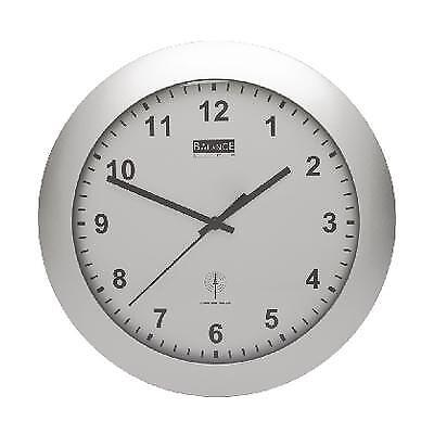 Radio-controlled Wall Clock 30 Cm Analogue Silver
