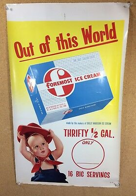 Foremost Ice Cream Litho Paper Sign Press Sheet Philadelphia PA