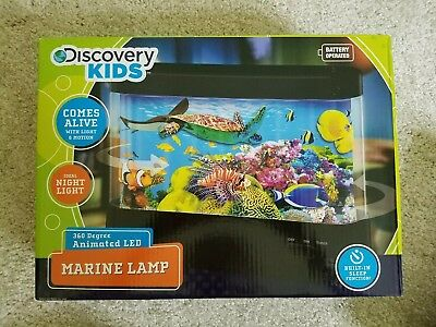 New In Box Discovery Kids MARINE LAMP 360 Degree Animated LED.