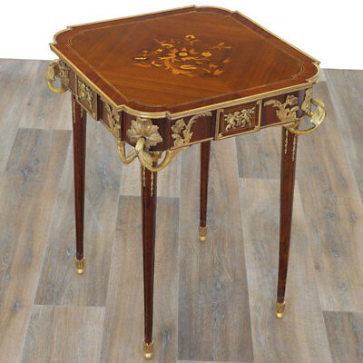 FRENCH Louis XVI-TABLE: EMPFANGSTISCH, eleganter SOFATISCH massiv, COFFEE TABLE