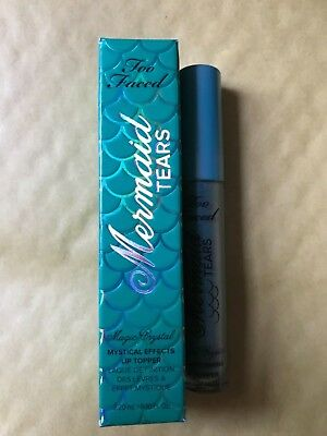 Too Faced Mermaid Tears Magic Crystal Mystical Effects Lip Topper New In Box