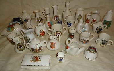 Crested China job lot Goss-Arcadian-Shelley x 31