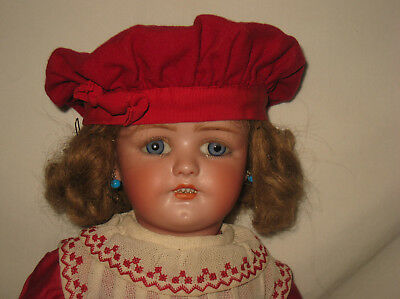 "Antique 21"" Simon & Halbig Bisque Socket Head Doll  HTF #550  MB10"